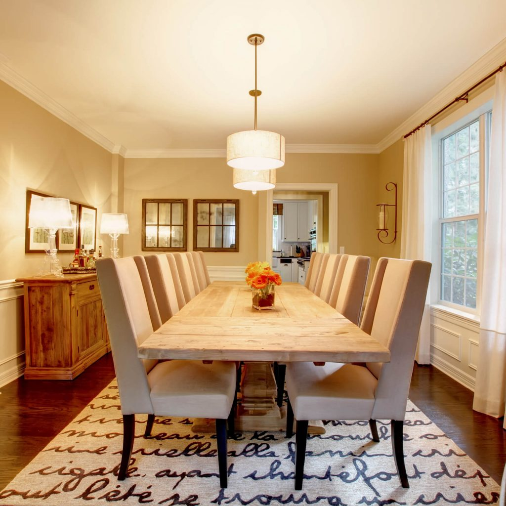 the Best Rug for Your Dining Room | Messina's Flooring